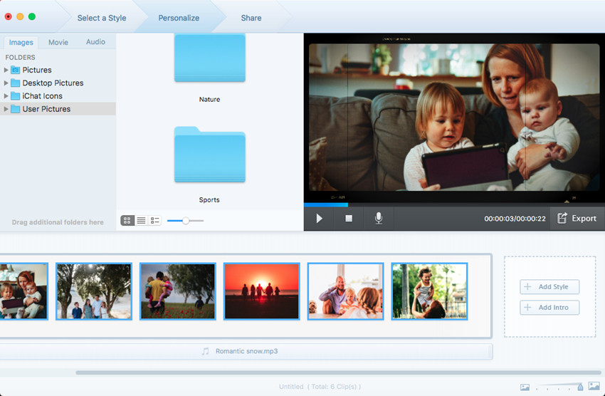 How to Make a Slideshow - Add a New Style to Your Slideshow