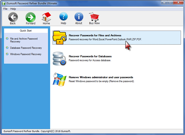 recover passwords for files and archives