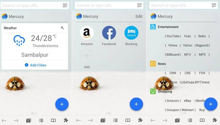 Image result for Mercury android browsers