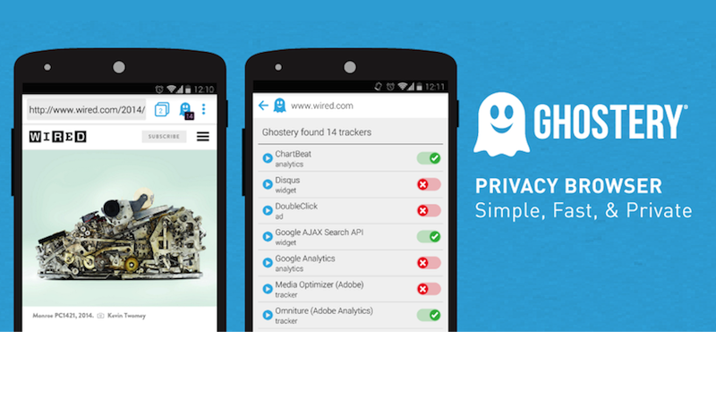 """Image result for """"Ghostery"""" android browsers"""
