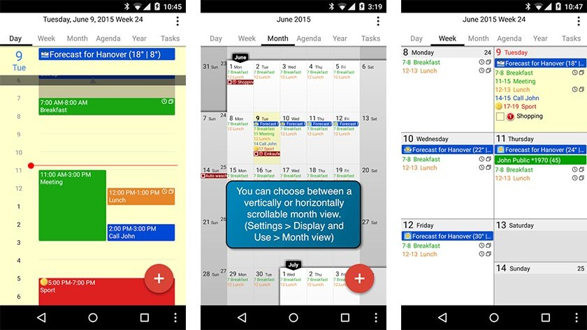 calengoo best calendar apps for android