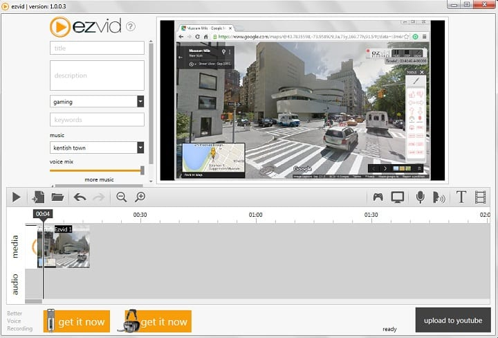 Image result for EZVID screen recorder 2019
