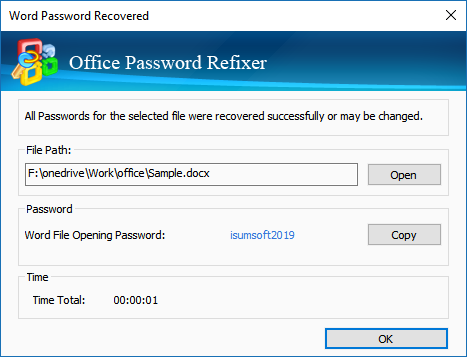 recover microsoft office password