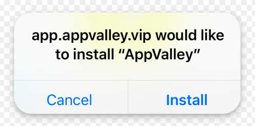 Tap Install AppValley