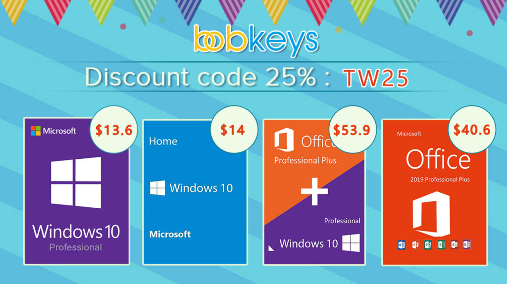 BobKeys Deals - Get Windows 10 Pro at $13.56 or Bundled With Office 2019 Pro at $53.93 1