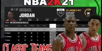 How to play with classical players and teams in NBA 2K 3